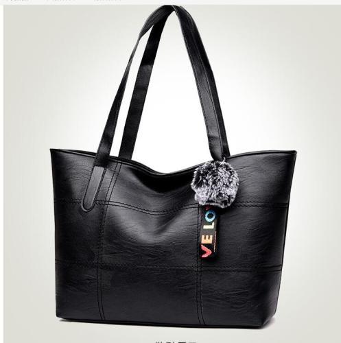 New women's bag large capacity Pu soft leather handbag fashion wild lady bag
