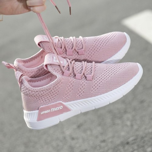2021 new breathable lightweight sneakers student running shoes mesh women's shoes trend wild tie balance casual shoes