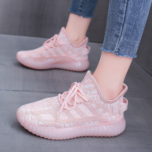 Flying woven shoes women's new breathable students in spring and summer of 2021 Korean fashion sports shoes casual running shoes