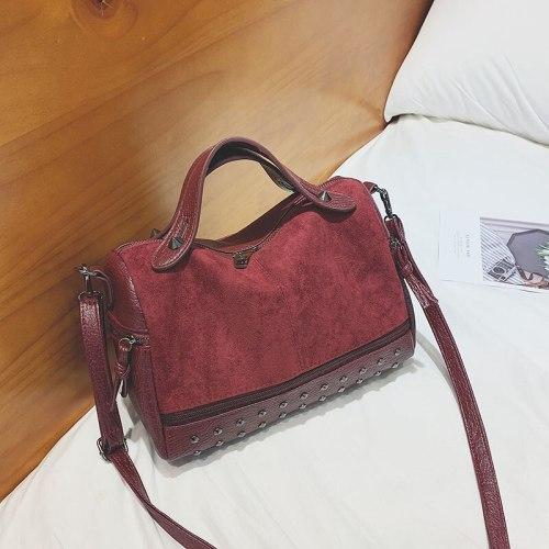 Vintage Rivet Crossbody Bag Women PU Leater Shoulder Bag Luxury Messenger Bag Brand Lady Handbag Large Shopping Purse bolso