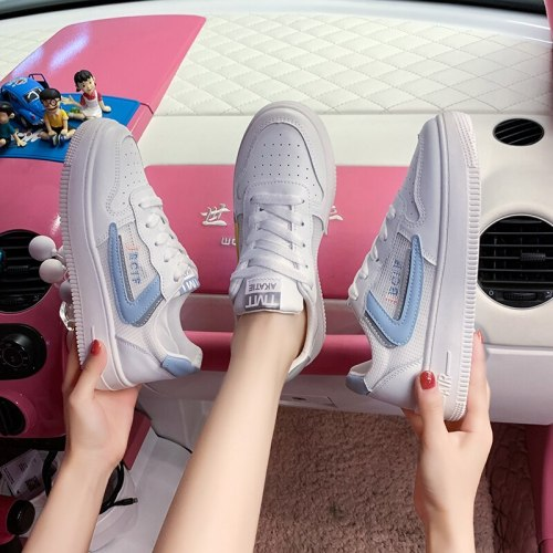 Women Shoes 2021 Summer New Little White Shoes Style Mesh Breathable Comfortable Casual Shoes Platform Heighten Female Sneakers