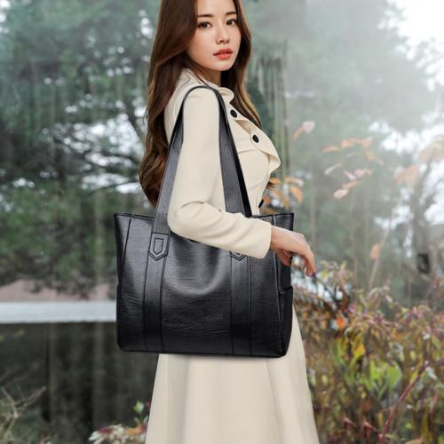 Yogodlns Winter New Tote Bag For Women PU Leather Shoulder  Bag Large Capacity Handbag Vintage Embossing Lady Handle Bag Pouch