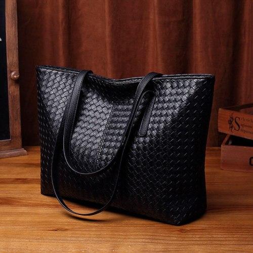 Bag 2021 New Women's Bag Fashion Woven Bag Large Capacity Shoulder Bag Fashion Casual Tote Bag Simple Big Bag