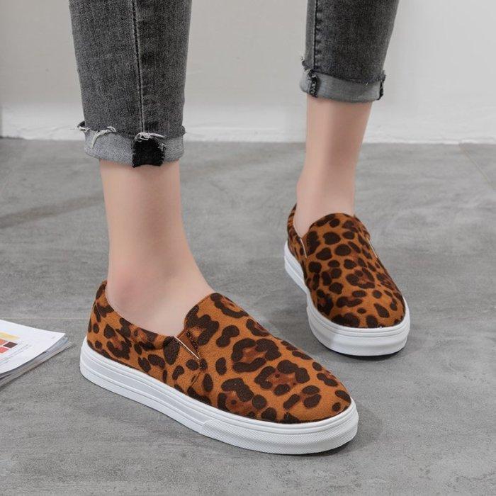 Women's Autumn Casual Shoes Woman Fashion Female Slip-On Flat Platform Shoes Flats Leopard Print Serpentine zapatos de mujer