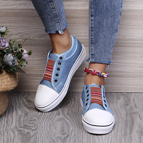 Women's Walk Vulcanize Shoes Comfortable Summer Breathable Ladies Boared Flats Shoe Leisure Canvas Sports Sneakers