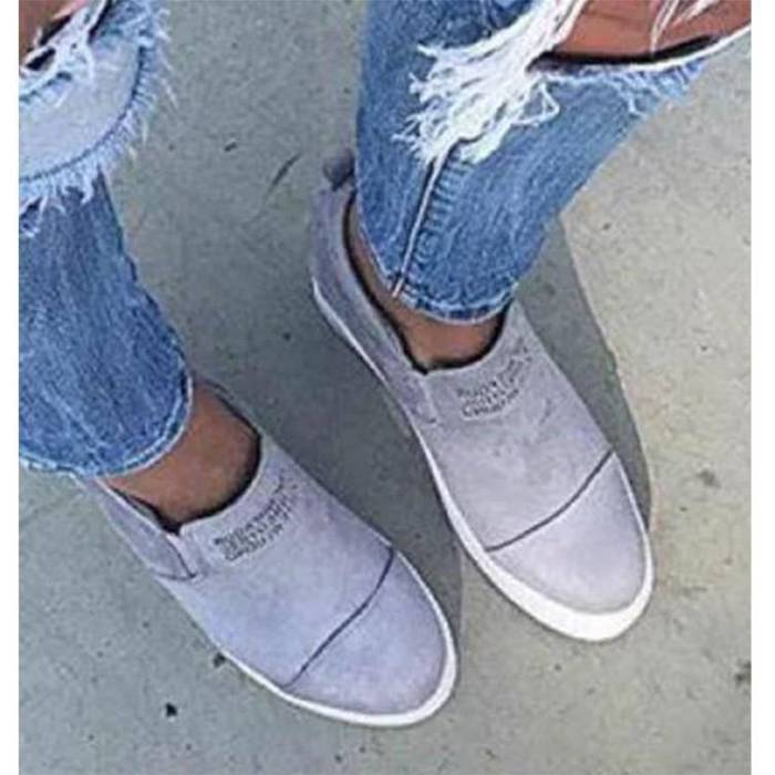 2021New Flock High Heel Lady Casual Women Sneakers Leisure Platform Shoes Breathable Height Increasing Shoes Sneakers