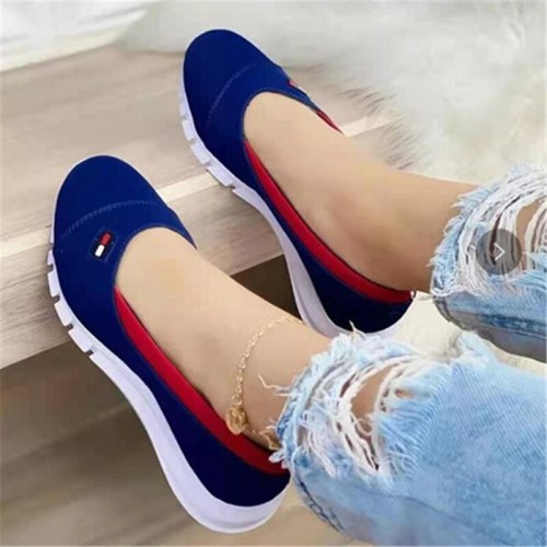 Women's Simplicity Shallow Mouth Single Shoes 2021 Spring Summer Fashion Breathable Soft Bottom Casual Wild Female Footwear