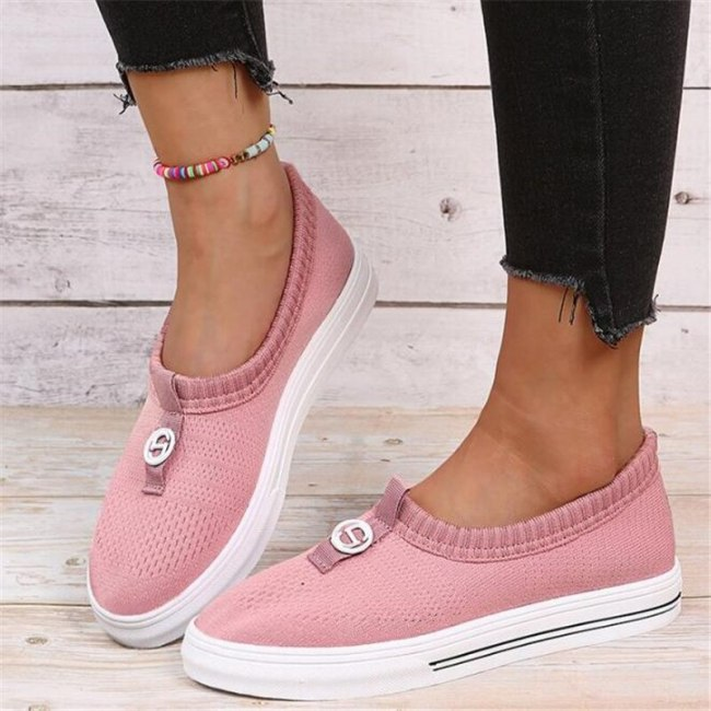 New large size sports women's shoes spring autumn fashion women's casual shoes women's platform sneakers mesh running loafers