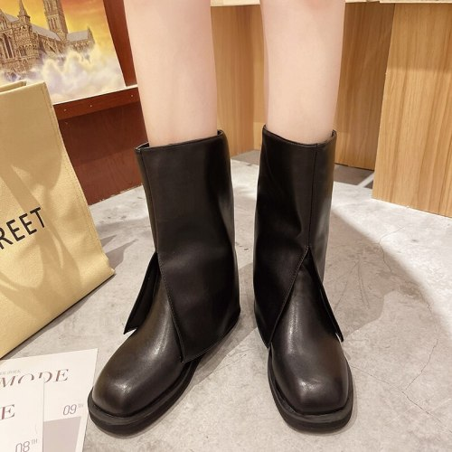 Newest Brand Women Booots  Autumn Winter Warm Shoes Top Quality Thick Heel Knee High Boots Dress Party Office Shoes Woman Boots