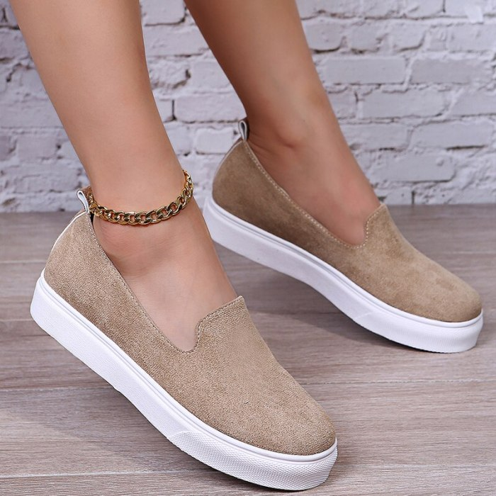 Autumn Women Shoes Casual Flats Platform Slip-On Shoes Fashion Sneakers Women Shoes Tenis Feminino Zapatos De Mujer Loafers