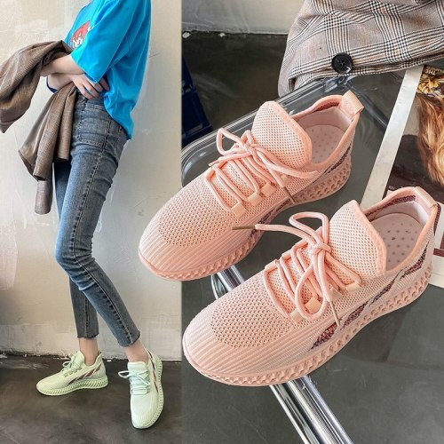Fashion Women Shoes Spring  Breathable Mesh Sneakers Women Casual Shoes Black Pink Outdoor Walking Vulcanized Shoes Woman