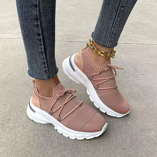 Women Summer Mesh Sneakers Height Increasing Air Cushion Shoes Woman Lady Girl Walking Lace-Up Running Sports Casual Tenis Shoes