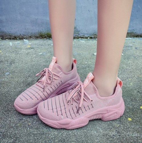2021 Sneakers Women Breathable Mesh Casual Shoes Soft Comfortable Vulcanized Sport Shoes Outdoor Light Walking Running Sneakers