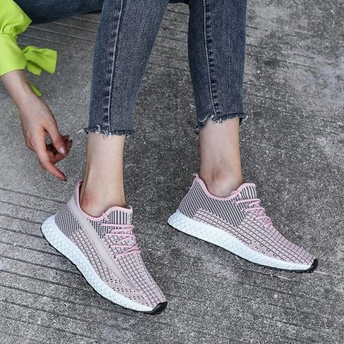 2021 New sports women's shoes breathable comfortable and not stuffy running fitness large size 43 vulcanized shoes women's