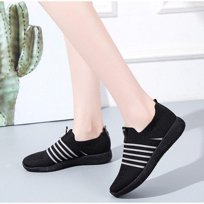 Women Sneakers Vulcanized shoes Mesh Breathable Comfort Casual Ladies Walking Shoe Fashion Platform Autumn Spring Female