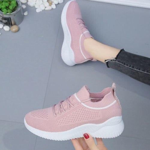 Women's Sneakers 2021 Women's Leisure Breathable Mesh Outdoor Fitness Running Sport Shoes Platform Sneakers Zapatillas