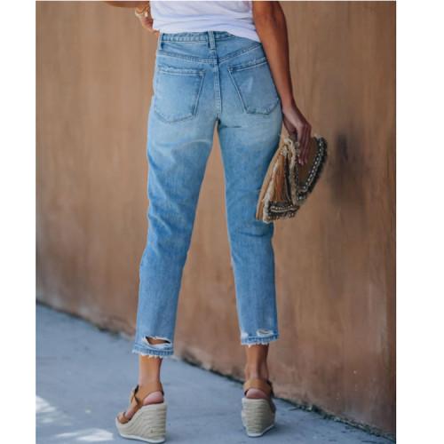 Vintage high waisted jeans woman bleached woman's jeans for women ripped harem pants boyfriend jeans women's jeans Plus size