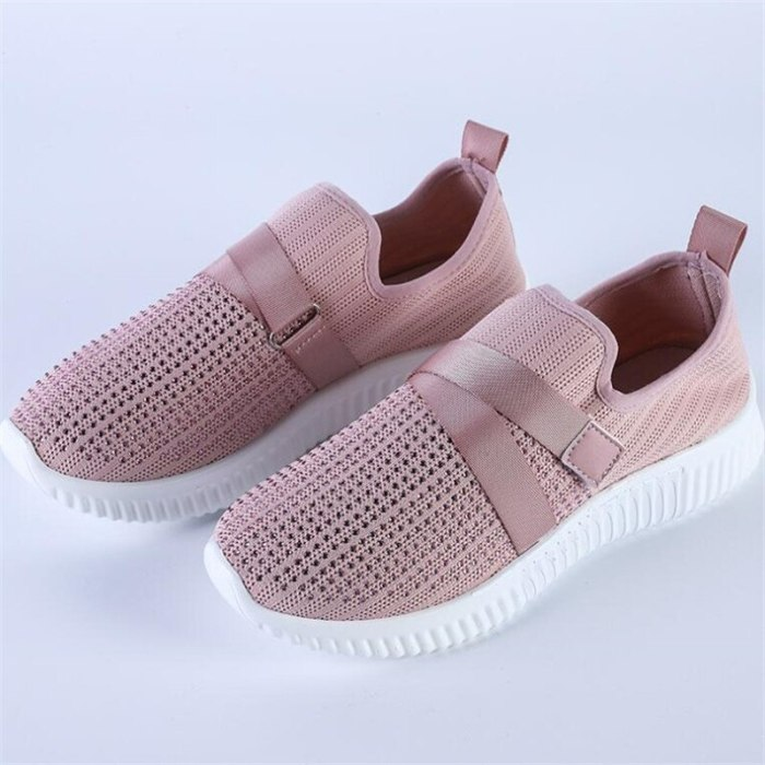Mesh Rhinestone Women's Shoes 2021 New Lightweight Casual Shoes Women Fashion Breathable Womens Bottom Platform Sneakers Loafers