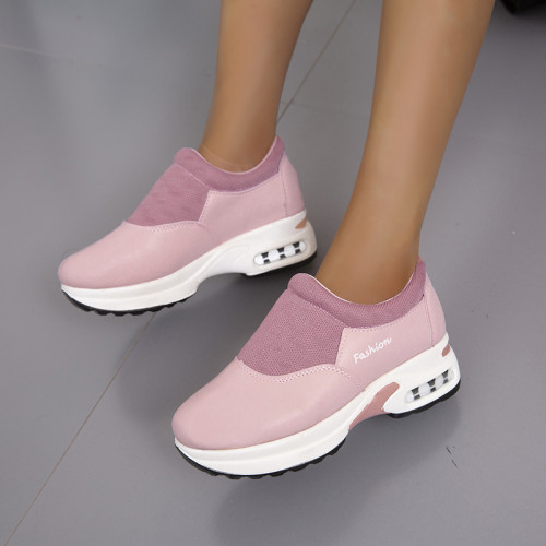 Women Sports Shoes 2021 New Autumn Winter Flats Loafers Slip-on Designer Platform Sneakers Wedges Running Casual Walking Shoes
