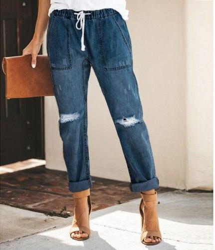 2021 Harem Pants Vintage Mid Waist Jeans Women Boyfriend Ripped Jeans summer Casual Mom Jeans Cowboy Denim Pants Ladies Jeans