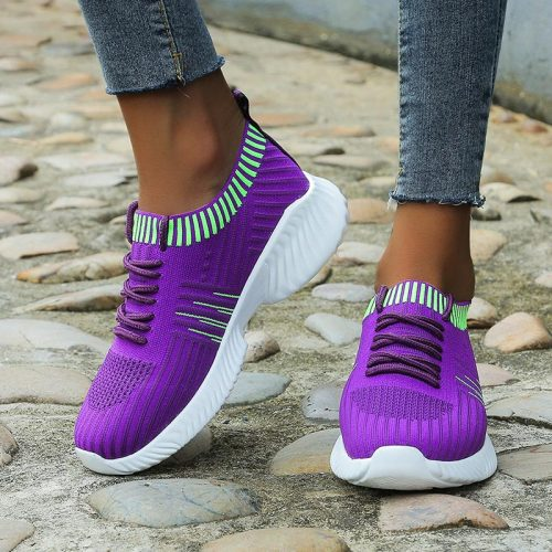 New Women Sneakers Ladies Vulcanized Shoes Ladies Flat Platform On Casual Women's Mesh Breathable Footwear Female Fashion Slip