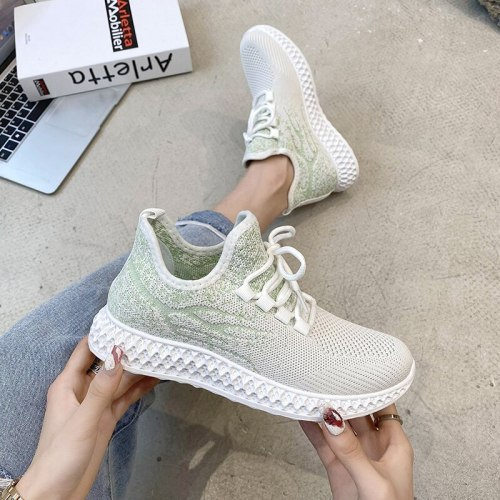 Women Sneakers Spring Flat Shoes Casual Women Vulcanized 2021 Summer Light Mesh Breathable Female Running Shoes Zapatillas Mujer