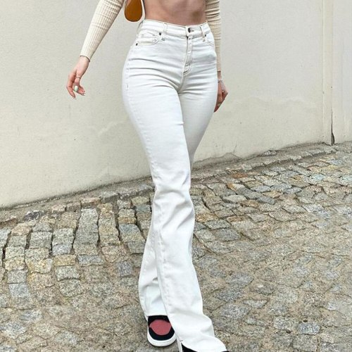 Denim Skinny Women's Stretch Jeans Female High Waist White Jeans For Women 2021 Summer Jeans Pants Slim Thin Ladies Trousers