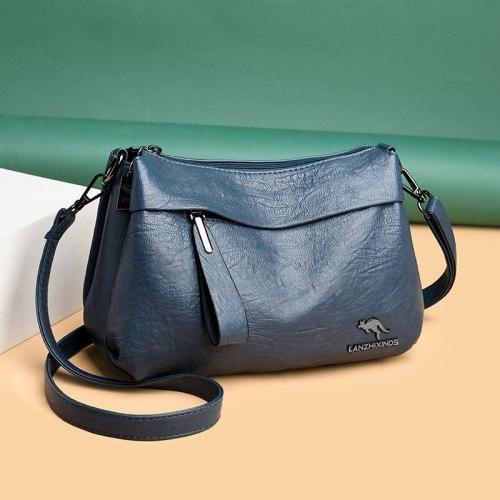 New Blue Leather Bags Women Purses and Handbags Luxury Handbags Women Bag Designer Brand Shoulder Crossbody Bags for Women 2021