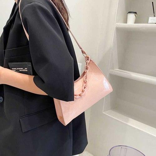 Female Women's Bag Luxury Designer Handbag 2021 New Solid Color Quality Simple Chain Messenger Crossbody Shoulder Bags For Women