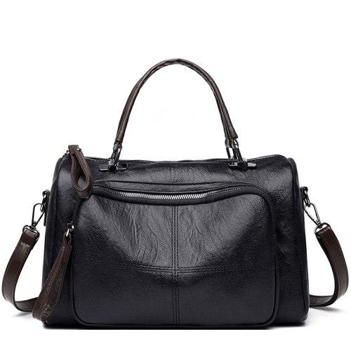 Fashion Women Shoulder Bags Pu Luxury Crossbody Bags For Women Handbags Cylinder bag Big Crossbody Bag Ladies 2021 Winter New