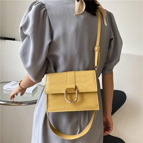Stone Pattern Vintage Bag Luxury Woman Satchel Female White Leather Shoulder Ladies Women Crossbody Strap Handbags Women's Bags