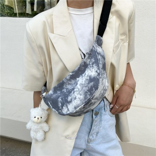 New Fanny Pack For Women Canvas Waist Bag Ladies Fashion Bum Hip Bag Travel Crossbody Chest Bag Trendy Zipper Female Belt Bag