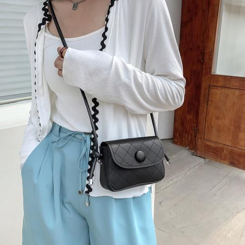 Diamond Lattice Casual Shoulder Messenger Bag 2021 Summer New Small Purse Women's Designer Handbag Fashion Simple Crossbody Bags