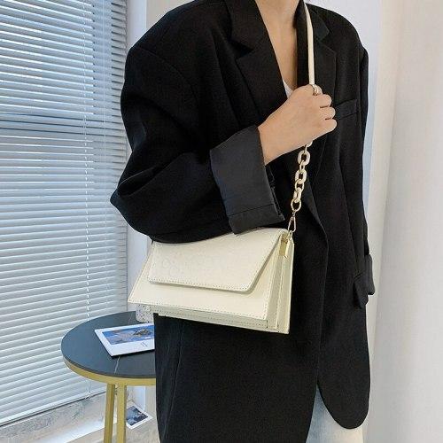 Cartoon Printing PU Leather Shoulder Crossbody Bags For Women 2021 Women's Designer Solid Color Flap Handbag Female Travel Bag