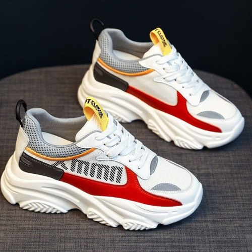 Women's Autumn 2021 New Thick-soled Vulcanized Shoes Fashion Sports Shoes Lace-up Casual Ladies Breathable Running Shoes