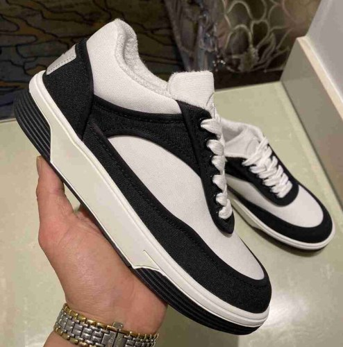 2021 Runway Women Sneakers Casual Shoes Ladies Trainers White Black Platform Sneaker Brand Baskets Femme Dames Deportivas Mujer