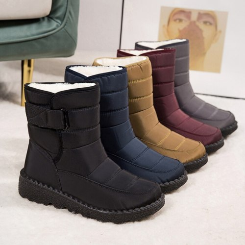 Women Boots 2021 Fashion Waterproof Snow Boots For Winter Shoes Women Casual Lightweight Ankle Botas Mujer Warm Winter Boots