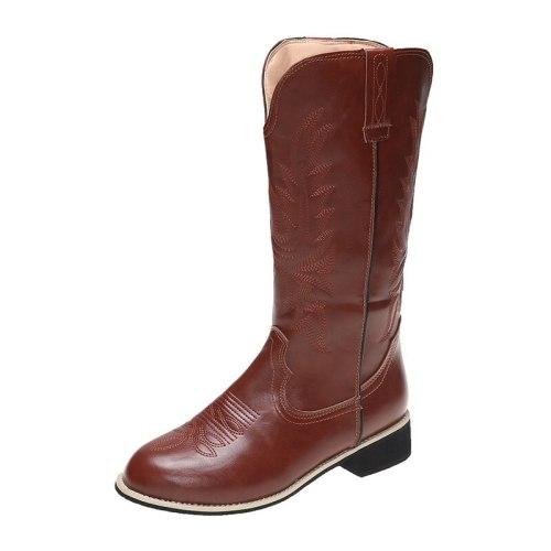 2021 Autumn and winter new thick heel boots women's boots Korean fashion Joker Martin boots