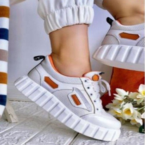 Women Shoes Walking Sport Sneakers Lady Daily Casual Stylish Use 2021 Fashion Design Breathable Women Sneakers