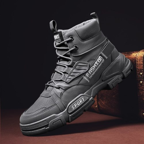 2021 New Winter Outdoor Hiking Boots for Men Fashion High Top Casual Shoes Artificial Leather for Leisure Army Boot