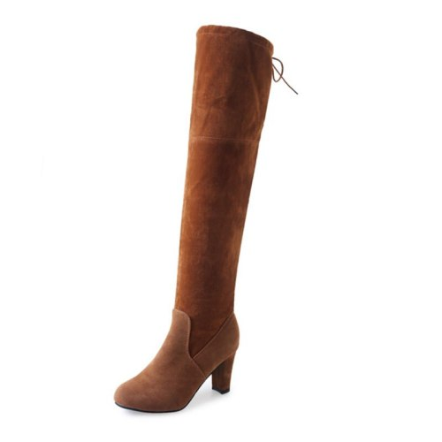 New Spring And Autumn And Winter Big Size Star With The Same Boots Over The Knee Was Thin High-heeled Thick Heel Boots Children