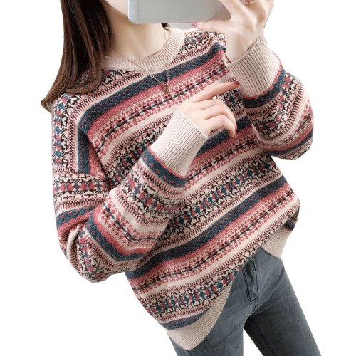Pullovers Women O Neck Sweaters Long Sleeve Female Jumper Autumn Winter Fashion Casual Basic Top Soft Knitted Warm Clothes