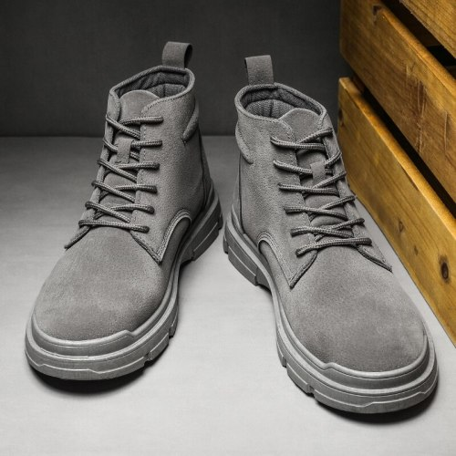 Men's Martin Boots Fashion Casual Sports High-top Tooling Boots High-quality British Style Male Trendy Shoes For Fall 2021 New