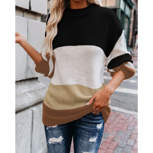 Women Knitted Sweater Fashion Plus Size Pullovers Ladies Winter Loose Korean Streetwear Casual Tops Femme Jumper Sueter Mujer