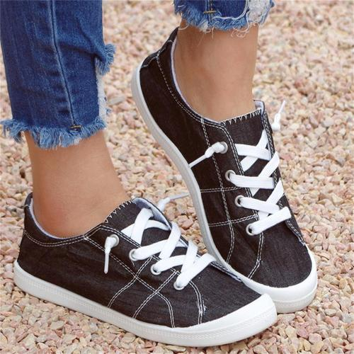 New Leopard Sneakers Women 2021 All Season Daily Lace Up Ladies Comfy Casual Canvas Shoes Home Outdoor Large-Sized Flats Female