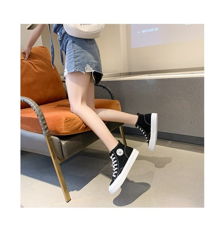 2021 Fashion Spring and Summer Women's New Ladies Casual Shoes Avant-garde Sneakers New High-top Sneakers
