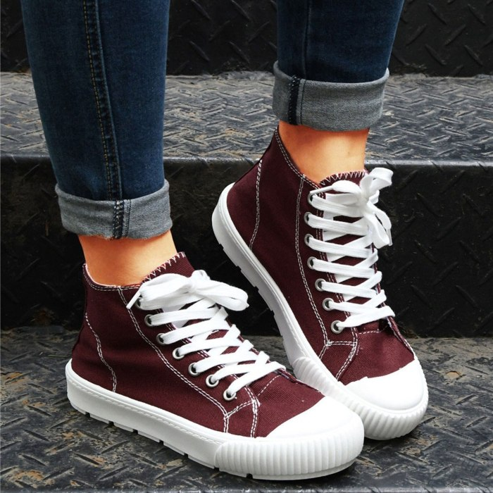 2021 New Women Shoes Sneakers Canvas Flats Comfort Non-Slip Female Fashion Vulcanized Shoes Outdoor Breathable Ladies Footwear