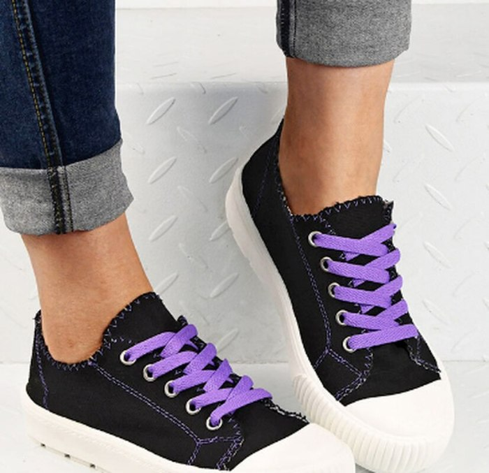 Flats shoe canvas soft hiking light women fabric casual shoes woman plus size boots chaussures femme zapatos mujer sapato SA1467