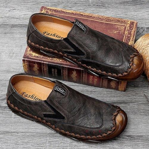 Men's Loafers Handmade Leather Men's Casual Shoes Autumn Comfortable Mens Designer Shoes Men Classic Zapatillas Hombre 38-47