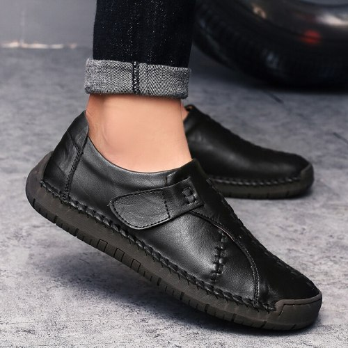 Men Sneakers Luxury Brand Skid-Proof Men'S Leather Shoes Calsado Brand Man Shoes Size 48 Loafers For Men Breath